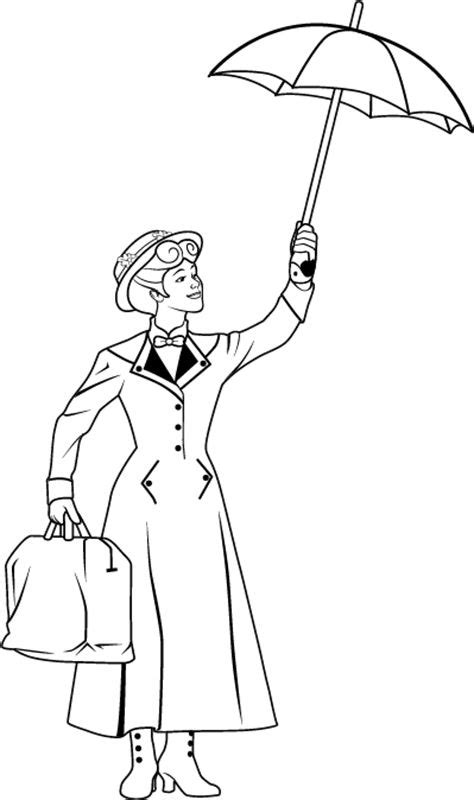 mary poppins coloring pages selfcoloringpages com