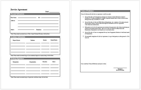 it services template free printable it service agreement template form generic