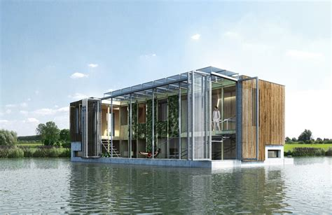 self sufficient floating house kraaijvanger