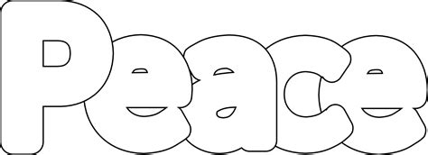 peace sign coloring pages selfcoloringpages com
