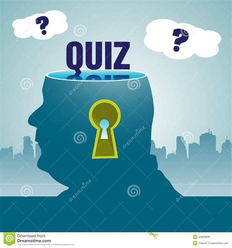 design quiz quiz theme stock vector image 43509839