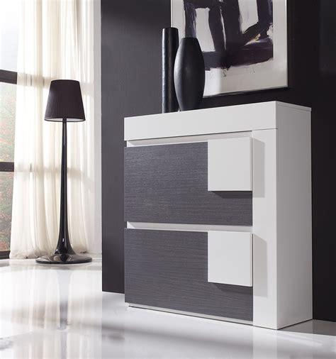 meuble salle a manger blanc et gris