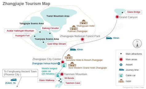 grand map skywalk wulingyuan tianmenshan grand tourism map