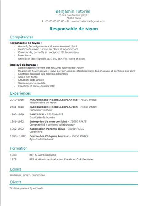 mod 232 le de cv vert modele de cv curriculum vitae 224
