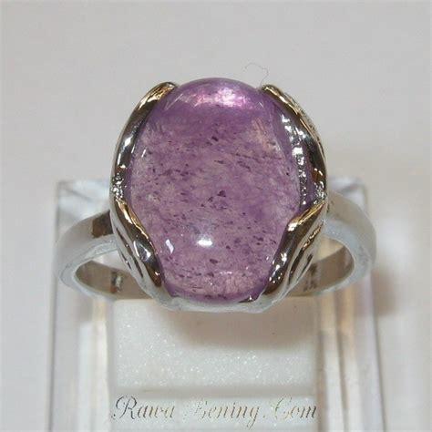 Cincin Batu Kecubung Wanita Cbkw1 cincin wanita batu kecubung bahan gold plated size 18mm