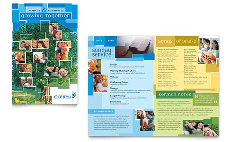community church brochure template word amp publisher