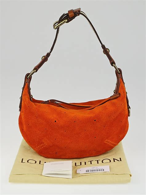 Louis Vuitton Onatah Pm by Louis Vuitton Limited Edition Orange Monogram Suede Onatah