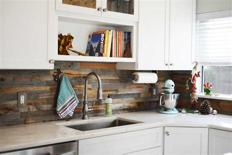 wood kitchen backsplash reclaimed wood backsplash tiles for kitchens bathrooms
