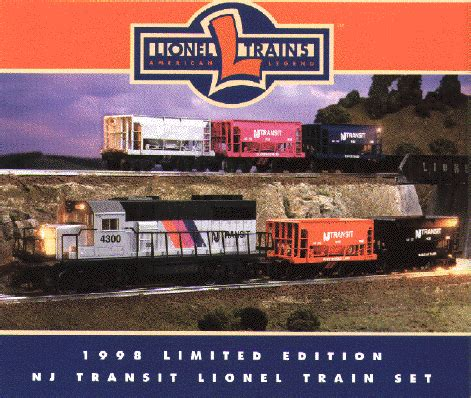 30169 new jersey transit ready to run set 1998 lionel limited edition nj transit train set
