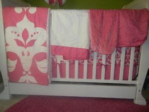 coe crib bedding lot baby 8 pc coe quot pink pop quot damask crib bedding