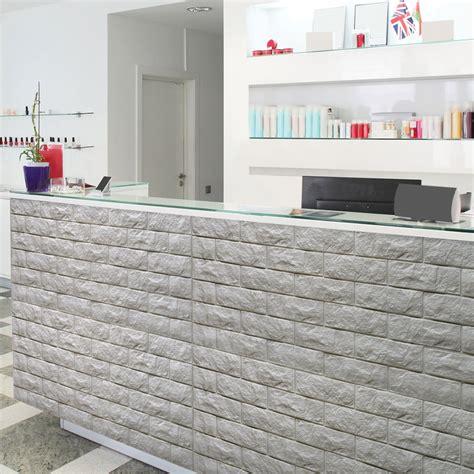 Best Kitchen Backsplash Material brick peel amp stick pe wallpaper 3d effect 10 sheets 48 4 sq ft