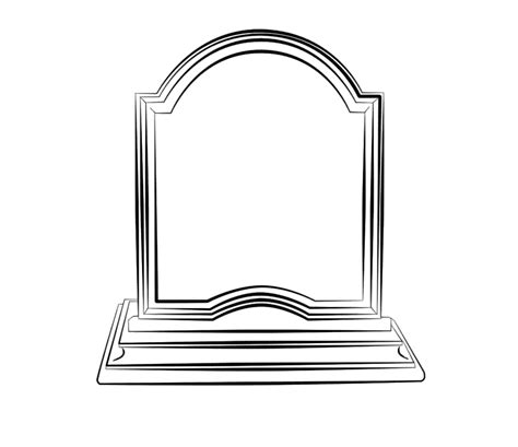 headstone templates gravestone clipart best