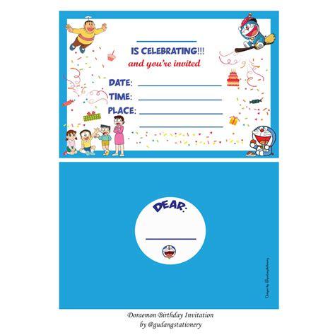 jual kartu undangan ulang  anak doraemon  lapak