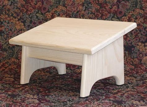 footrest nursing foot stool pine unfinished by oldvirginiahome