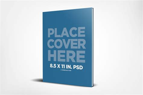 8 5 X 11 Standing Hardcover Book Mockup Covervault 8 5 X 11 Booklet Template