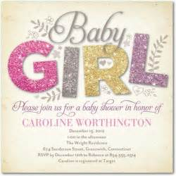 all things glitter baby shower invitations in hello one