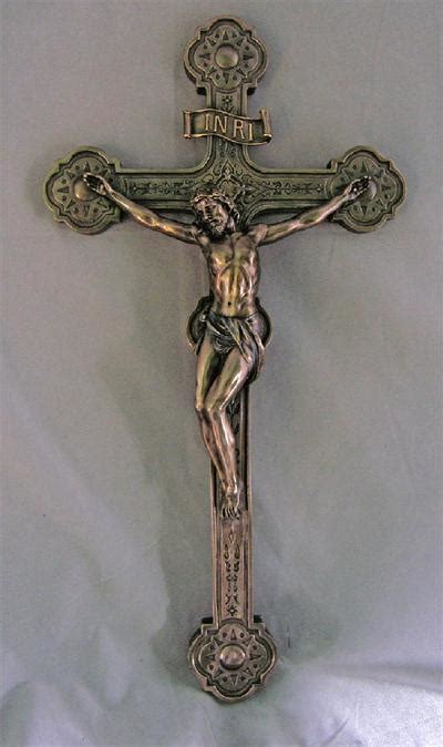 "20"" Cold Cast Bronzed Resin Crucifix, # 99377"