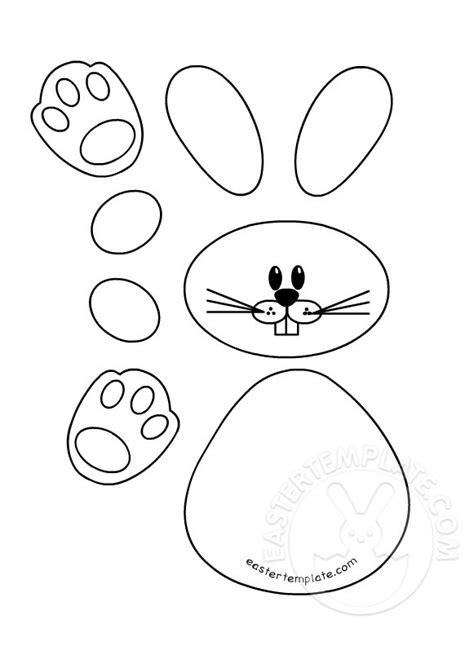 bunny printable template easter template