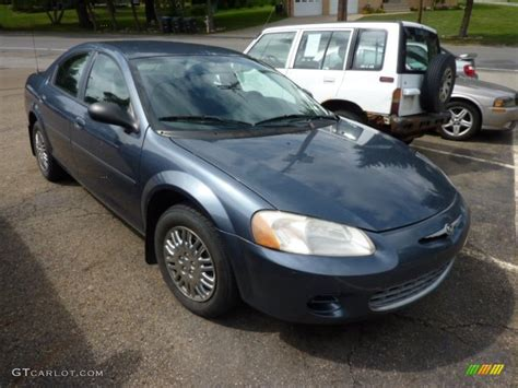 2002 Chrysler Sebring Sedan by 2002 Steel Blue Pearl Chrysler Sebring Lx Sedan 70353036