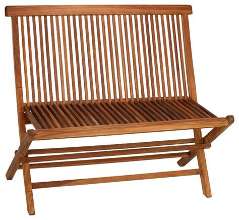 outdoor folding bench logan outdoor folding bench loveseat in solid teak beach