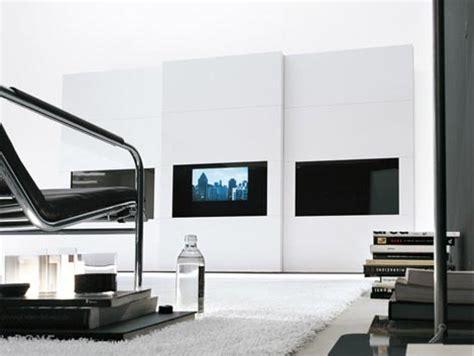 Sliding Wardrobe Doors With Tv by Tv Wardrobe With Hdtv From Presotto Italia The