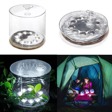 2016 hot sale 10led solar powered foldable inflatable