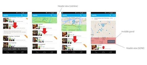 guide topics ui layout listview html android scrollview like foursquare with maps list