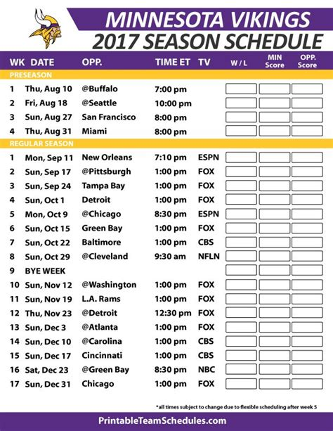 printable nfl schedule 2017 39 best images about nfl football schedule 2017 on