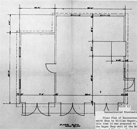 blacksmith shop floor plans herbert hoover nhs historic structures report plates
