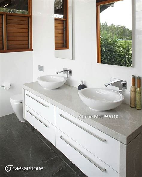 Caesarstone Bathroom Vanity 68 Best Caesarstone Alpine Mist Images On Kitchen Ideas Architecture And Countertops