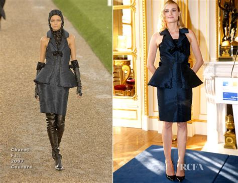 Catwalk To Carpet Diane Kruger In Chanel by Diane Kruger In Chanel Couture Ministere Of Culture