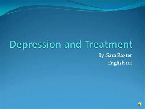 depression powerpoint template depression and treatment raxter s powerpoint