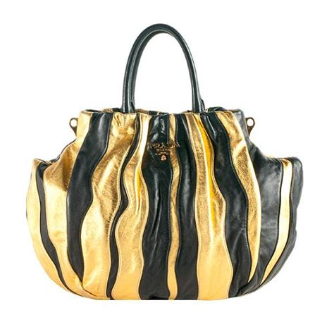 Prada Nappa Stripes Multicolor Tote by Prada Nappa Stripes Medium Tote