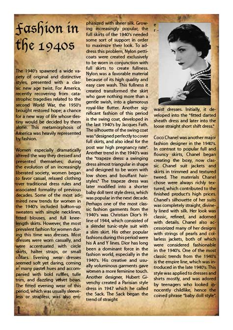 Fashion Newsletter Tbfs Guide To Buying by 1950 S Fashion Newsletter P1 By Reedal Qassimi On Deviantart
