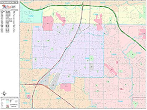 richardson zip code map richardson zip code wall map premium style by