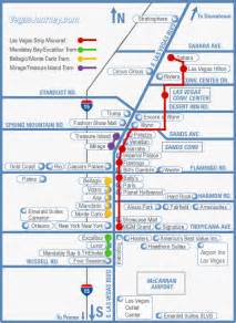 Las Vegas Tram Map by Monorail Tram Amp Strip Map Las Vegas Maps Vegasjourney Com