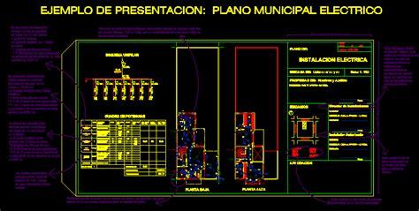 municipal electric plan la plata dwg plan  autocad