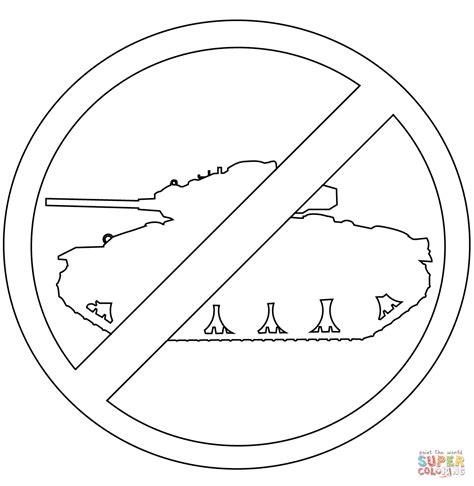 no tank sign coloring page free printable coloring pages