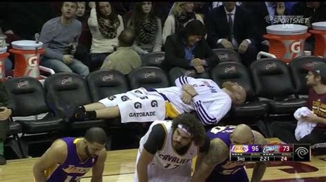 lakers bench the lakers literally ran out of players and still held on