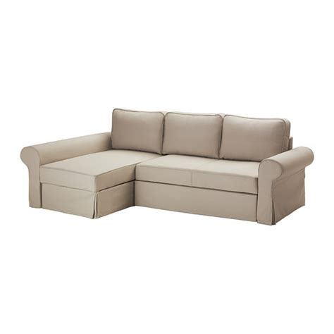 ikea sofa bed chaise backabro cover for sofa bed with chaise tygelsj 246 beige
