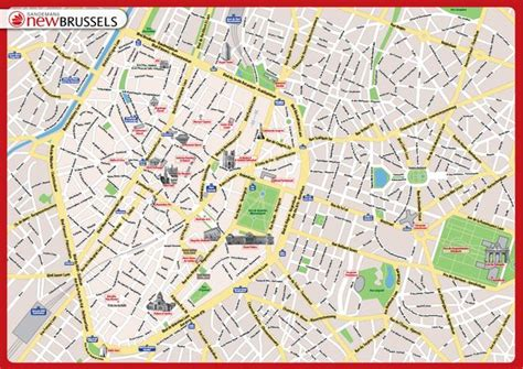 map of brussels cool map of brussels tourist travelquaz