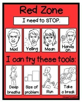 zones of regulation printable poster single sheet mini poster adapted from actual zones of