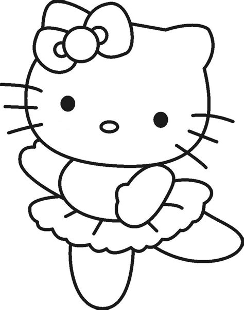 coloring page kitty nice hello kitty ballerina coloring pages coloring pages