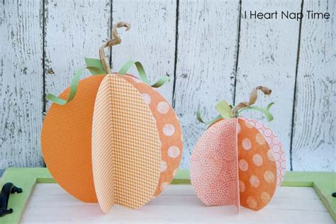 How To Make A Pumpkin Out Of Paper - paper pumpkins pictured tutorial