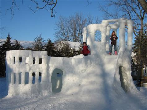 How To Build An Igloo In Your Backyard - 18 snow forts that are cooler than your house epicpew