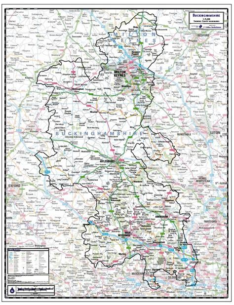 Map Of The World Wall Mural buckinghamshire county map paper laminated or mounted