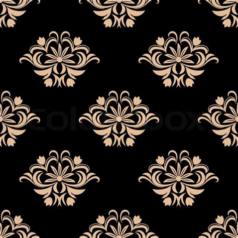 pattern is any decorative motif or design vintage seamless pattern background with floral decorative