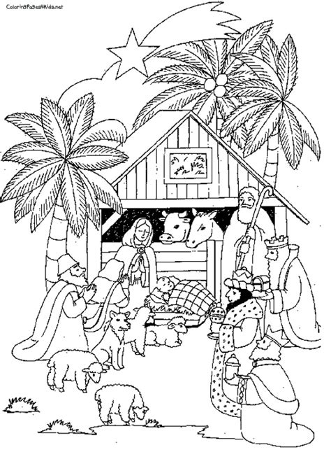 nativity scene animals coloring pages best photos of christmas nativity scene coloring page