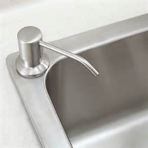 brushed nickel stainless steel kitchen sink soap dispenser