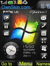 ownskin themes nokia 6120c animated windows theme mobile themes for nokia asha 203